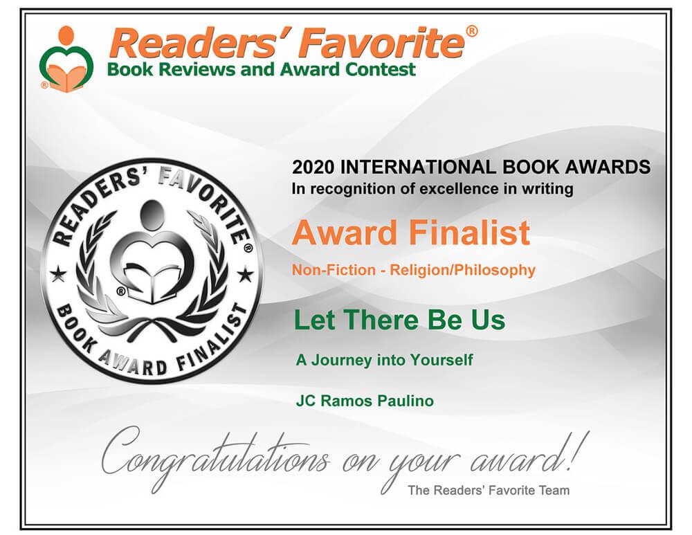 Readers' Favorite Award Finalist